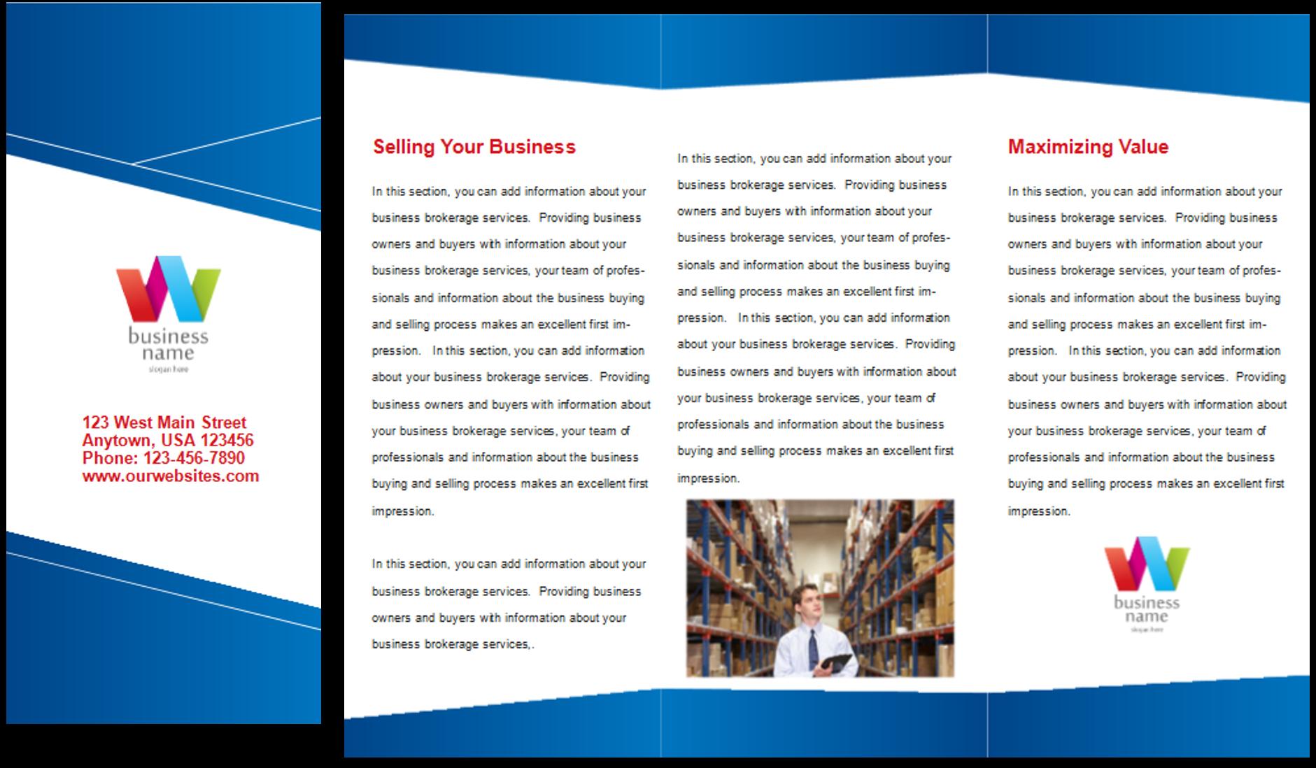 information pamphlet template